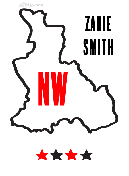NW. Zadie Smith. Book Review. [Image: Outline of Northwest London] 4 stars
